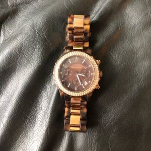 Micheal Kors Watch Rose Gold and Tortoise